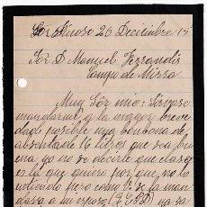 Cartas comerciales: CARTA COMERCIAL. CAFETERÍA. PINOSO. ALICANTE. 1915. TAMAÑO CUARTILLA. ESCRITA A 2 CARAS.. Lote 143040158