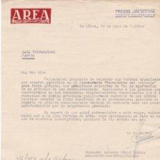 Cartas comerciales: CARTA COMERCIAL. AREA. SEMANARIO DEL CAMPO DE GIBRALTAR. LA LÍNEA 1958. Lote 143389086