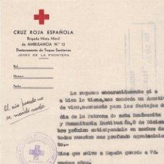 Cartas comerciales: CARTA COMERCIAL. CRUZ ROJA ESPAÑOLA. JEREZ DE LA FRONTERA 1954. Lote 143564478