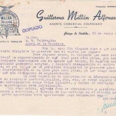 Cartas comerciales: CARTA COMERCIAL. GUILLERMO MILLÁN ALFONSO. AGENTE COMERCIAL COLEGIADO. PRIEGO DE CÓRDOBA 1951. Lote 143581718