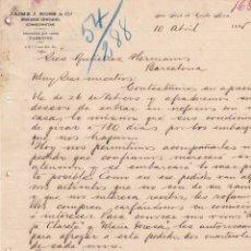 Cartas comerciales: C. ROSS & CÍA. IMPORTADORES, EXPORTADORES. COMISIONISTAS. SAN JOSÉ DE COSTA RICA 1895. Lote 143595522