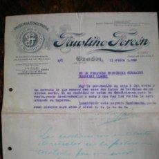 Cartas comerciales: CARTA COMERCIAL FAUSTINO FORCÉN. Lote 143935398