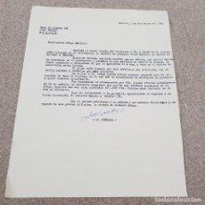 Cartas comerciales: CORRESPONDENCIA...CARTA ESCRITA DEL COMPOSITOR JULIO PEÑALBA....1960...... Lote 144207142