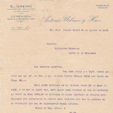 Cartas comerciales: CARTA COMERCIAL. EL GREMIO. ALMACÉN DE ABARROTES AL POR MAYOR. COSTA RICA 1915. Lote 144426090