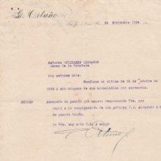 Cartas comerciales: CARTA COMERCIAL. G. ORTUÑO. SAN JOSÉ DE COSTA RICA 1924. Lote 144426526