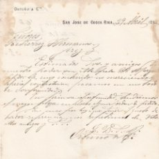 Cartas comerciales: CARTA COMERCIAL. ORTUÑO & CÍA. SAN JOSÉ DE COSTA RICA 1892. Lote 144427090