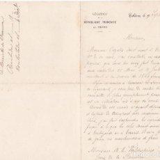Cartas comerciales: CARTA COMERCIAL. LEGATION. REPUBLIQUE FRANCAIS EN PERSE. TEHERAN 1892. Lote 144430334