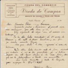 Cartas comerciales: CARTA COMERCIAL DE FONDA DEL COMERCIO EN GUADIX - GRANADA - 1920. Lote 144482022