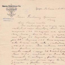 Cartas comerciales: CARTA COMERCIAL. MANUEL CHINCHILLA Y CÍA. IQUIQUE 1906. Lote 173028852