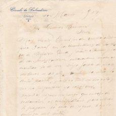 Cartas comerciales: CARTA COMERCIAL. CIRCULO DE LABRADORES. LEBRIJA 1927. Lote 145471278