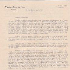 Cartas comerciales: CARTA COMERCIAL. DAMIÁN SUSÍN DE CASO. HUESCA 1960. Lote 145566598