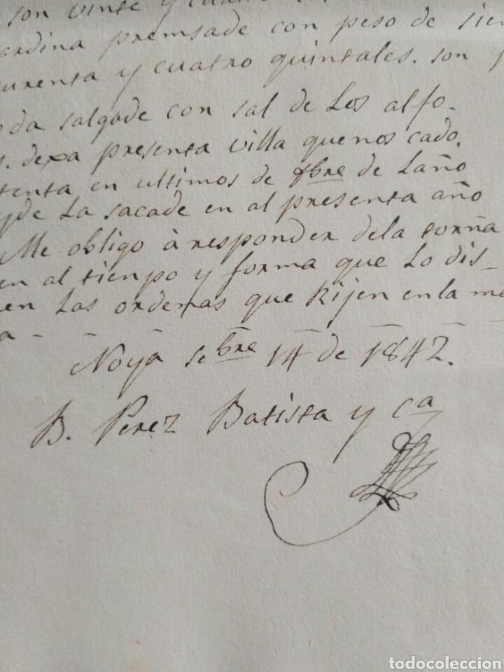 Cartas comerciales: Hoja de registro de embarque, Noya 1842. La Coruña. - Foto 3 - 148909444