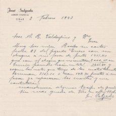 Cartas comerciales: CARTA COMERCIAL. JOSÉ SALGADO. AGENTE COMERCIAL. 1943. Lote 150150494