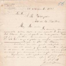 Cartas comerciales: CARTA COMERCIAL. ROGELIO GÓMEZ. MÁLAGA 1893. Lote 150972754