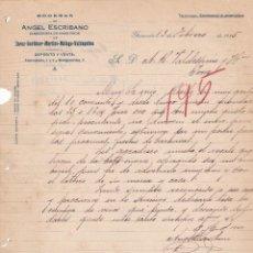 Cartas comerciales: CARTA COMERCIAL. BODEGAS DE ANGEL ESCRIBANO. ALMACENISTA DE VINOS FINOS. GRANADA 1925. Lote 151099926