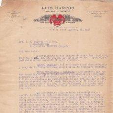 Cartas comerciales: CARTA COMERCIAL. LUIS MARCOS. SEGUROS Y COMISIONES. HABANA. CUBA 1928. Lote 151402858