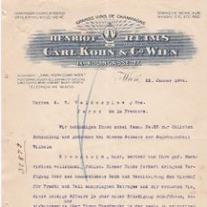Cartas comerciales: CARTA COMERCIAL. CARL KOHN & Cº WIEN. GRANDS VINS DE CHAMPAGNE. WIEN 1906. Lote 151403138