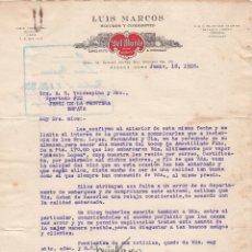 Cartas comerciales: CARTA COMERCIAL. LUIS MARCOS. SEGUROS Y COMISIONES. HABANA. CUBA 1928. Lote 151403590