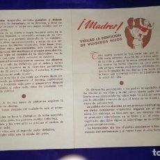 Cartas comerciales: ANTIGUA CARTA COMERCIAL CUADRO DE ERUPCION DENTARIA, AÑOS 40. Lote 151405062