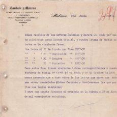Cartas comerciales: CARTA COMERCIAL. CANDALE Y MORERA. ALMACENISTAS DE VIVERES FINOS Y COMISIONES. HABANA 1923. Lote 151406398