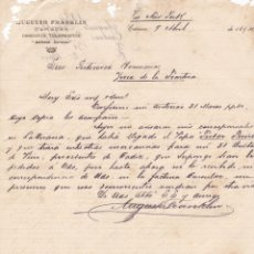 Cartas comerciales: CARTA COMERCIAL. AUGUSTO FRANKLIN. CARACAS 1894. Lote 151406490