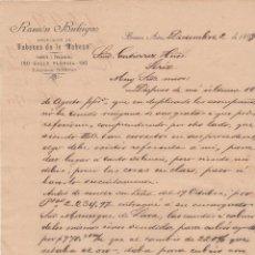 Cartas comerciales: CARTA COMERCIAL. RAMÓN BUHIGAS. IMPORTADOR TABACOS DE LA HABANA. BUENOS AIRES 1899. Lote 151406590