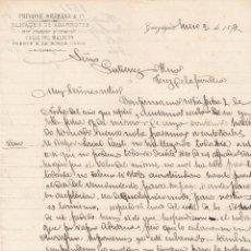 Cartas comerciales: CARTA COMERCIAL. FRUGONE SOLIMANO & Cª. ALMACEN DE ABARROTES. GUAYAQUIL 1897. Lote 151407738