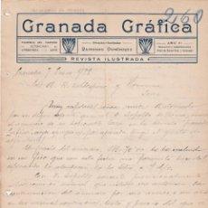 Cartas comerciales: CARTA COMERCIAL. GRANADA GRÁFICA. REVISTA ILUSTRADA. GRANADA 1922. Lote 151579218