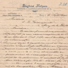 Cartas comerciales: CARTA COMERCIAL. SIEGFRIED HEILERN. VIENNE 1893. Lote 151954490