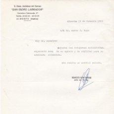 Cartas comerciales: CARTA COMERCIAL. SAN ISIDRO LABRADOR. S.COOP.ANDALUZA DEL CAMPO. ALMOMONTE. HUELVA 1993. Lote 152135786