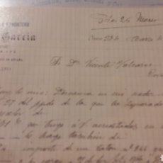 Cartas comerciales: 1906 CARBALLIDO ORENSE TEJIDOS QUINCALLA Y PAQUETERIA FERMIN GARCIA. Lote 152720852