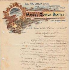 Cartas comerciales: CARTA COMERCIAL DE EL AGUILA DE MANUEL CORREA BENITEZ EN JEREZ DE LA FRONTERA -1917. Lote 156645318