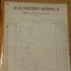 Cartas comerciales: ALEJANDRO ARRIOLA HIENDELAENCINA GUADALAJARA 1909 FIRMA DEL PROPIETARIO EN EL REVERSO. Lote 156829158