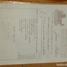 Cartas comerciales: JUAN HILLAN MONTADOR DE APARATOS ELÉCTRICOS. ALUMBRADO, TIMBRES, TELÉFONOS, ETC. MADRID CALLE PELAYO. Lote 156829518