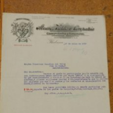 Cartas comerciales: ALVAREZ VALDÉS Y COMPAÑÍA COMERCIANTS Y BANQUEROS. HABANA CUBA. Lote 156869058