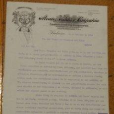Cartas comerciales: ALVAREZ VALDÉS Y COMPAÑÍA COMERCIANTS Y BANQUEROS. HABANA CUBA 1914. Lote 156869106