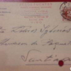 Cartas comerciales: 1943 VIGO FABRICA CALZADO HIJO CANDIDO SEVILLA MUNILLA LOGROÑO. Lote 156878598