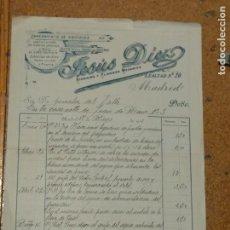 Cartas comerciales: JESÚS DIEZ SANEAMIENTO DE EDIFICIOS. LEALTAD Nº 20 MADRID. FIRMA PROPIETARIO . Lote 156869826