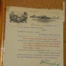 Cartas comerciales: ALVERTO ALVAREZ FABRICANTES, EXPORTADORES. LA RAZA LATINA. BARCELONA. 1914. . Lote 156870498