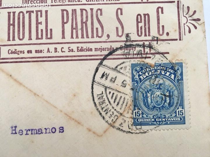 Cartas comerciales: Antiguo Sobre carta Gran Hotel Paris S en C principio 1900 - Foto 2 - 159044532