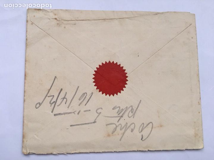 Cartas comerciales: Antiguo Sobre carta Gran Hotel Paris S en C principio 1900 - Foto 3 - 159044532