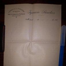 Cartas comerciales: FONDA LA VIZCAINA DE IGNACIO SANCHEZ MADRID AÑOS 20. Lote 160579778
