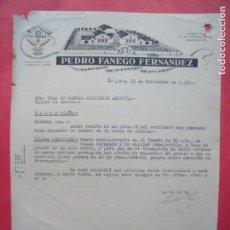 Cartas comerciales: PEDRO FANEGO FERNANDEZ.-FABRICA DE PIEDRAS DE AFILAR.-EL GLOBO.-CARTA COMERCIAL.-GIJON.-AÑO 1950.. Lote 160748890