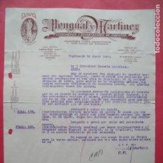 Cartas comerciales: MENGUAL Y MARTINEZ.-LA DAMA.-COSECHEROS Y EXPORTADORES DE PIMENTON.-AZAFRAN.-ESPINARDO.-MURCIA.-1947. Lote 160749218