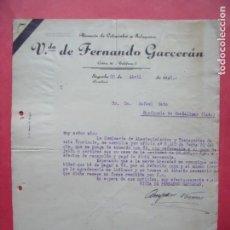 Cartas comerciales: VIUDA DE FERNANDO GARCERAN.-ALMACEN DE COLONIALES.-CARTA COMERCIAL.-SEGORBE.-CASTELLON.-AÑO 1942.. Lote 160751162