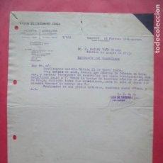 Cartas comerciales: VIUDA DE CASIMIRO COCO.-CARTA COMERCIAL.-VALENCIA.-BARCELONA.-AÑO 1941.. Lote 160752866