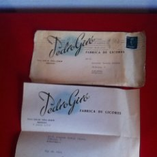 Cartas comerciales: FABRICA DE LICORES. PEDRO GIRÓ ( BARCELONA) CARTA Y SOBRE COMERCIAL 1958. Lote 160852465