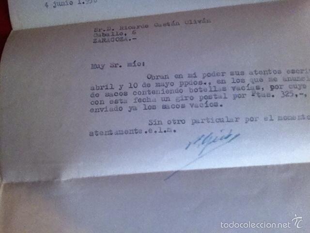 Cartas comerciales: Fabrica de Licores. PEDRO GIRÓ ( Barcelona) CARTA Y SOBRE COMERCIAL 1958 - Foto 3 - 160852465