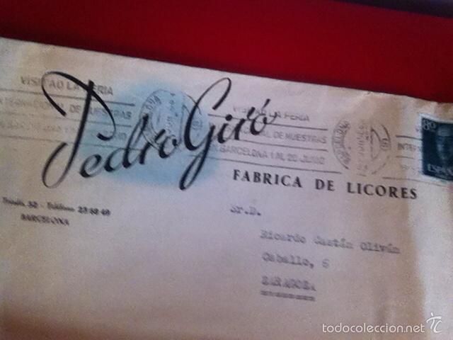 Cartas comerciales: Fabrica de Licores. PEDRO GIRÓ ( Barcelona) CARTA Y SOBRE COMERCIAL 1958 - Foto 4 - 160852465