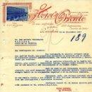 Cartas comerciales: CARTA COMERCIAL HOTEL ORIENTE, BARCELONA. 1927. Lote 160983646